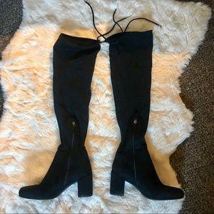 Franco Sarto Thigh High Tie Back Boots